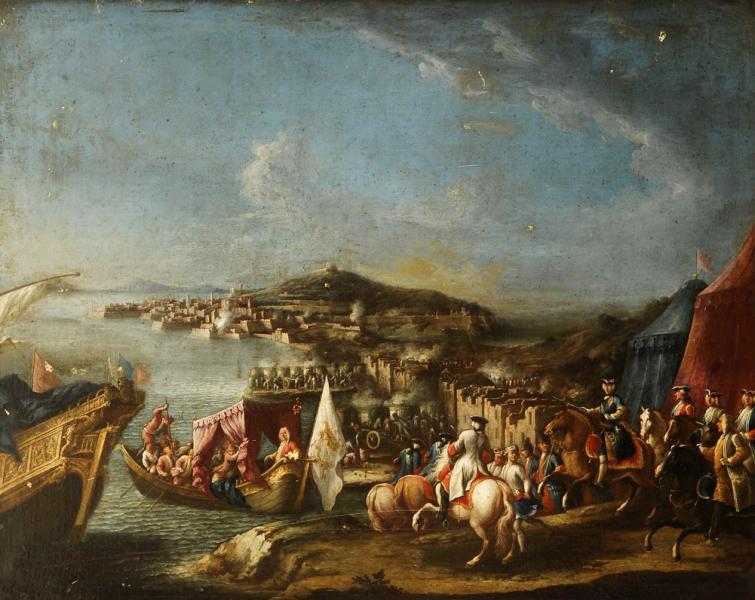 Illustrazione di Gaeta - Carlo III a cavallo